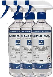 Hand Alcohol Desinfectie Spray 70% Gedenatureerd met IPA, MEK en Bitrex - 3x 500 ml met spraykop