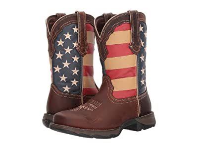 Durango Lady Rebel Flag Steel Toe (Brown) Cowboy Boots