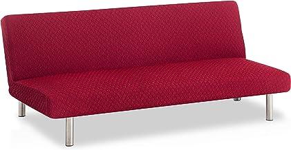 Elastische hoes voor zetelbed sofabescherming, rood, Olivia weefsel