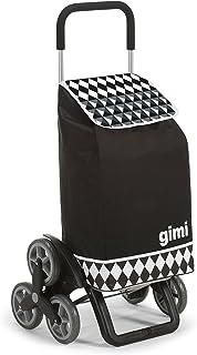 Gimi Tris Floral - Carro de la compra, con 6 ruedas, bolsa