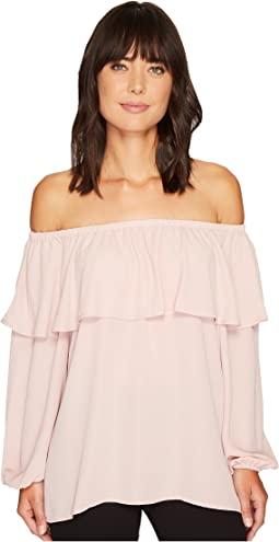 Vince Camuto - Long Sleeve Ruffled Off Shoulder Blouse