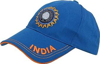KD Cricket India Cap Hat Team India Cricket ODI T20 Test Cricket Head Wear White Blue Camao