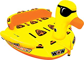 WOW Watersports Mega Ducky 19-1060, 1 to 5 Person Towable, Front and Back Tow Points – 5 Person Water Tube, Water Sports Towable