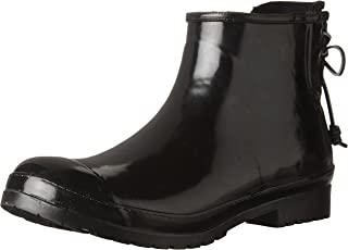 short rain boots with laces