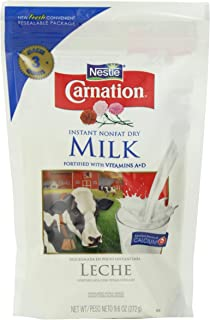 Nestle Carnation Instant Nonfat Dry Milk, 9.6-Ounce Pouch, (Pack of 4
