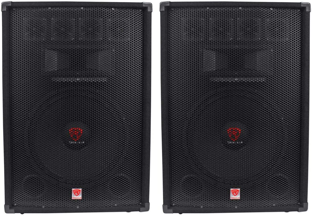 Attention brand 2 Rockville RSG15.4 15 Easy-to-use 3-Way 1500 Passive Au Pro 4-Ohm DJ Watt