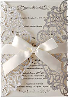 Best wedding invitations with lace design Reviews