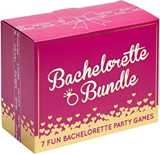 Bachelorette Bundle - 7 Fun Bachelorette Party Games (Bubbly Pong, Quiz The Groom, Bach Charades, I Have Never, Who Knows The Bride Best?, What Am I? and Truth or Dare)