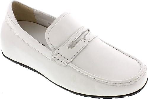 Toto h32102–5,6cm Grande Taille Hauteur AugHommester Chaussures Chaussures ascenseur (en cuir blanc moc-toe)