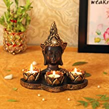 TIED RIBBONS Buddha Tealight Candle Holder Diwali Home Décoration - Tealight Candle Holder Diwali Decorations and Gift Item