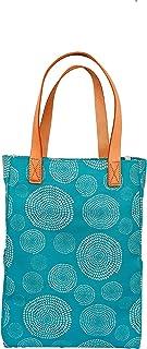 Stitchman Spira Turquise City Tote Bag/Tote Bag/Bag for Women/Canvas Bag/Reusable Bag