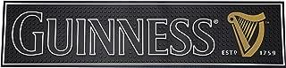 Guinness Gaelic Label Bar Mat - Non Slip Black PVC Rubber Drip Tray (Black)