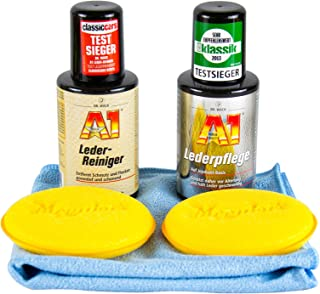 Dr. Wack Lederpflege & Lederreiniger 250 ml & 2X Meguair's Pad & Mikrofasertuch