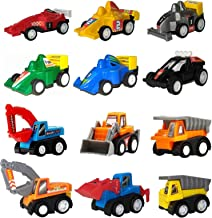 Pull Back Cars, Toys for 2 3 4 5 Year Old Boys Toddlers, WINONE 12 Pack Kids Toys Vehicles and Racing Cars for Easter Egg ...