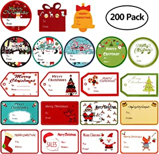 free christmas gift stickers