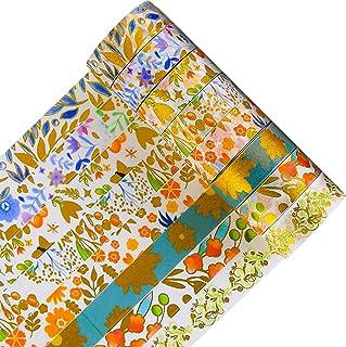 FV Lot de 8 rouleaux de ruban adhésif Washi en feuille d'or pour scrapbooking, planificateur, arts, artisanat, bricolage, ...