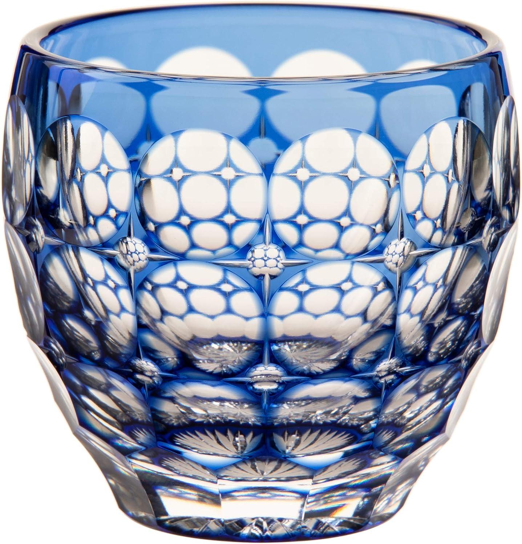 カガミクリスタル 冷酒杯(紫陽花)80cc 江戸切子 伝統工芸士鍋谷聰 T535-2684CCB