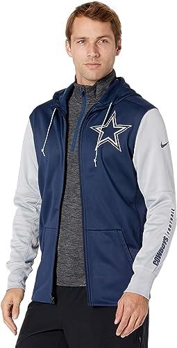 Dallas Cowboys Nike Left Chest Mascot Full Zip Therma Hoodie