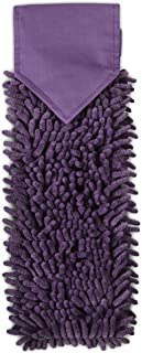 Norwex Chenille Hand Towel in Egg Plant with BacLock