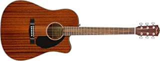 Fender CD-60SCE All Mahogany Acoustic-Electric Guitar - Dreadnaught Body Style - Natural Finish