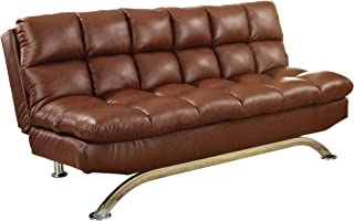 Furniture of America Adelle Convertible Sofa/Futon, Reddish Brown