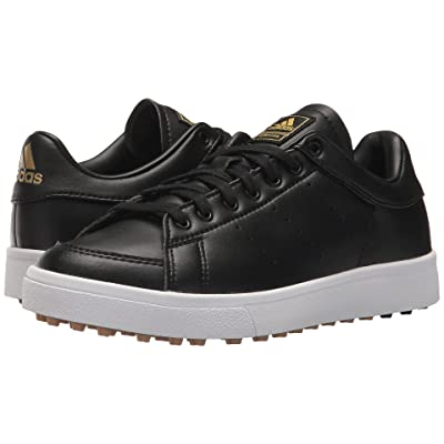 adidas Golf Jr. Adicross Classic (Little Kid/Big Kid) (Core Black/Core Black/Footwear White) Golf Shoes