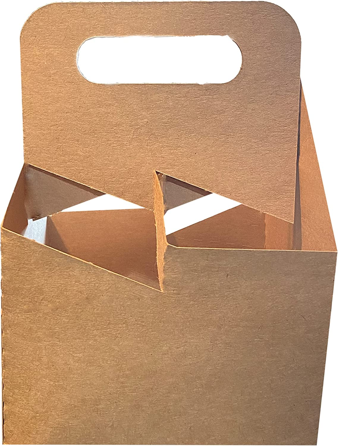 4 Cup Drink Max 72% OFF Carrier With Paperboard Handle Max 42% OFF Kraft Holder