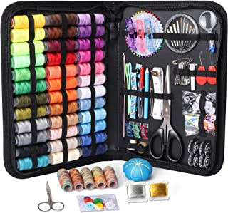 Large Sewing Kit, 206 Pcs Premium Sewing Supplies, Anti-Scratch Durable 600D Oxford Fabric Sewing Kits for Adults, Sewing ...