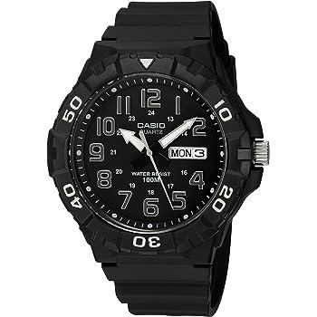 Casio Men's Classic Quartz Watch with Resin Strap, Black, 20 (Model: MRW-210H-1AVCF)