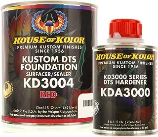 House of Kolor QUART KIT RED Color KD3000 DTS Surfacer / Sealer w/ Hardener