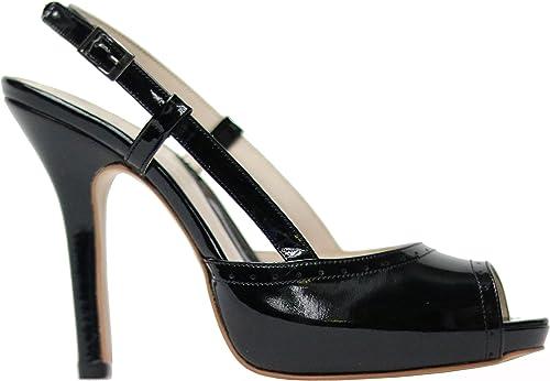 MUGA 1153-SW - zapatos de Vestir de Piel para mujer negro negro 36