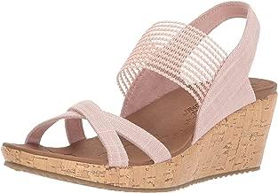 Skechers Cali Women's Beverlee-High Tea Wedge Sandal,pink,8 M US