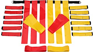 Flag Football Belts Adult - Durable 14 Player Flag Football Set of Belts and Flags Includes 3 Flags Per Belt Plus a Bonus 6 Replacement Flags (62 Piece Kit)