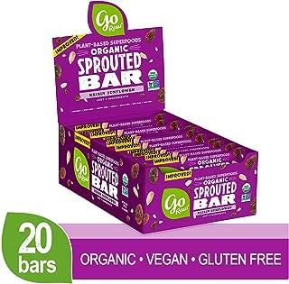 Go Raw Seed Bars, Raisin Sunflower   Gluten Free Snacks   Vegan   Organic   Paleo   Superfood (20 Large Bars)
