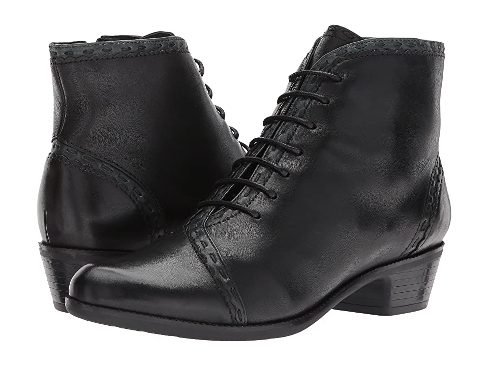 Steampunk Boots & Shoes, Heels & Flats Spring Step Jaru Black Womens Lace-up Boots $169.99 AT vintagedancer.com