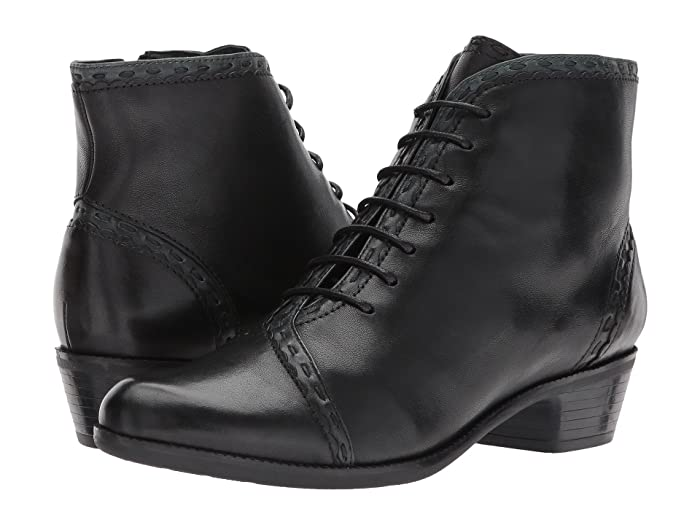 Vintage Boots, Granny Boots, Retro Boots Spring Step Jaru Black Womens Lace-up Boots $169.99 AT vintagedancer.com