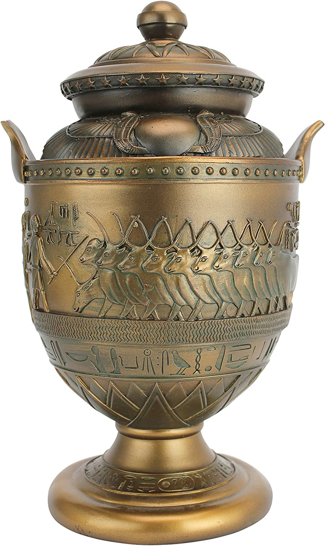 Design Toscano Divine Cult of Sacred Apis Egyptian Presentation Urn