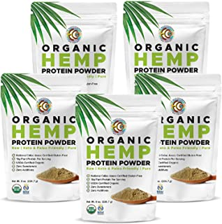 Earth Circle Organics Hemp Powder, Lab Tested 100% Gluten Free, Plant Based & Vegan Protein Powder - Perfect for Keto Diet...
