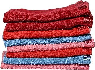 Eurospa Cotton Face Towel Set of 10, Multicolour