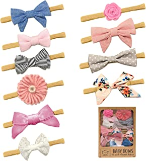 Baby Girl Headbands and Bows, Girls Hair Tie Bands, Infant Toddler Newborn Girl Hair Accessories
