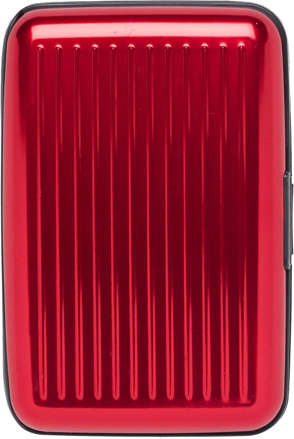 Monarque - Red Solid Armored Wallet Credit Card Case with RFID Data Theft Protection - Slim Design Fits in Front Pocket
