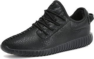 55829cbf98 Mujer Hombre Zapatos Invierno Impermeables Casuales Zapatillas Cuero  Calientes Forradas Mocasines Piel Cordón Planas Nieve Botas