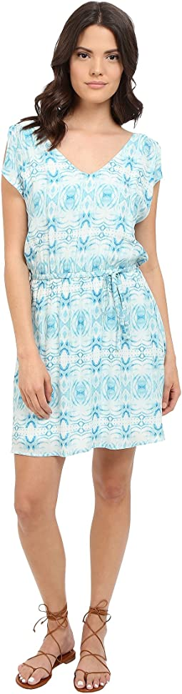 Zoya Grotto Printed Rayon Twill Dress