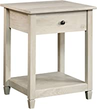 Sauder Edge Water Side Table, L: 19.45 x W: 18.50 x H: 24.29, Chalked Chestnut finish