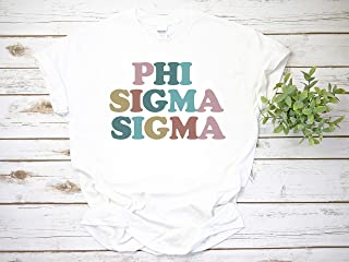 Retro, Rainbow, Vintage, Letters, Sorority, Phi Sigma Sigma, Alpha Gamma Delta, Alpha Phi, Recruitment, reveal, alumnae, Zeta Tau Alpha