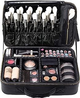 ROWNYEON Makeup Bag Makeup Case Cosmetic EVA Makeup Organizer Bag Portable Case Professional Makeup Artist Bag(Large Black)