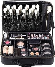 Travel Makeup Bag Cosmetic Makeup Train Case Artist Makeup Organizer Professional Portable Storage Bag for Women Girl Waterproof EVA Adjustable Dividers 16.1