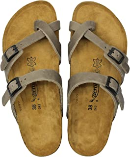 AEROTHOTIC - Comfortable and Arch Support Strappy Footbed Leather Sandals for Women