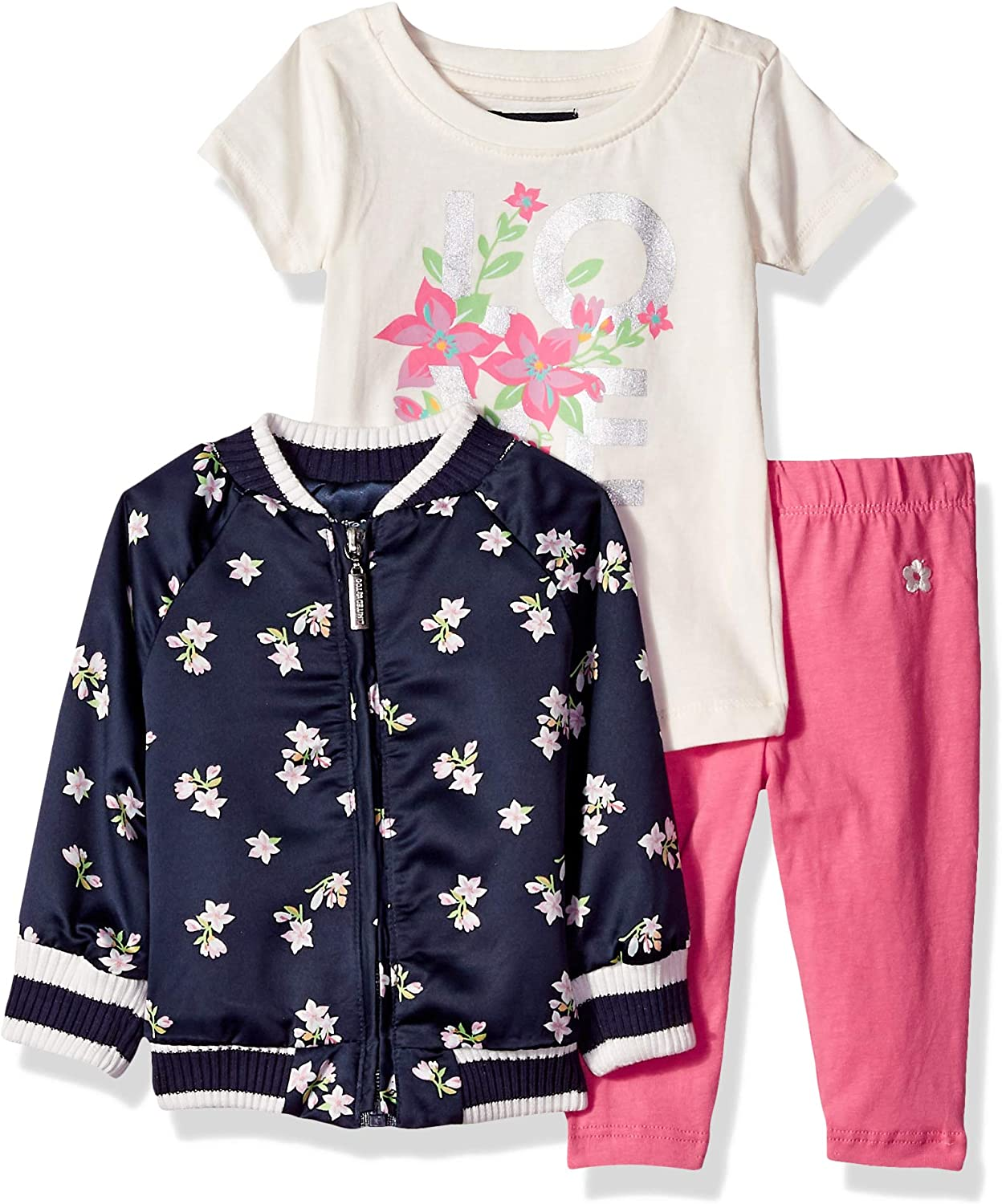 T-Shirt and Legging Set Pants Limited Too Baby Girls 3 Piece Flower Jacket