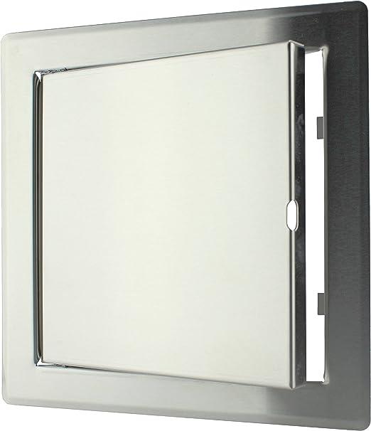 150x150 mm Edelstahl Revisionsklappe Wartungst/ür aus Metall 15x15 cm Revit/ür